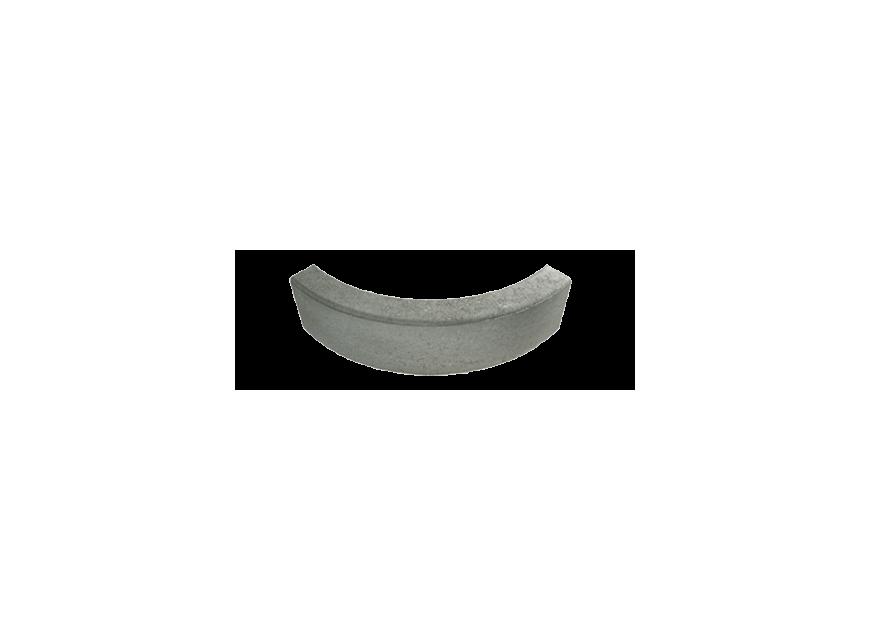 Cordolo rettangolare curvo 90° 8:8