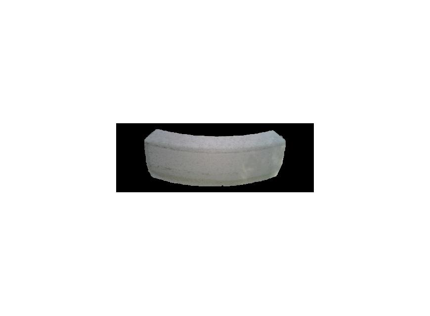 Cordolo trapezoidale curvo 45° 8:10